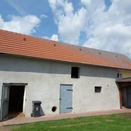 Dach mit Flechten