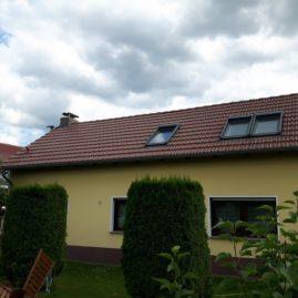 Dach nach Reinigung mit Beschichtung